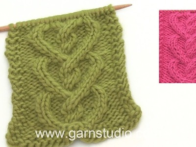 How to knit a cable shaped like a heart