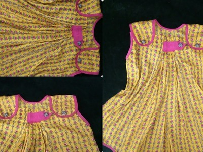 How to make 1.5 year baby top.jhabla with box plate cutting and stitching