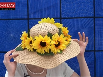 How to Make a Sunflower Hat - Crafting Hot Glue Tutorial with Leah Day