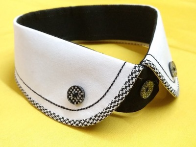 How to make designer club collar