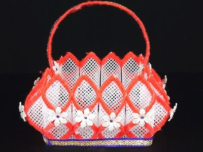 How to Make Plastic Canvas Basket in Easiest Way