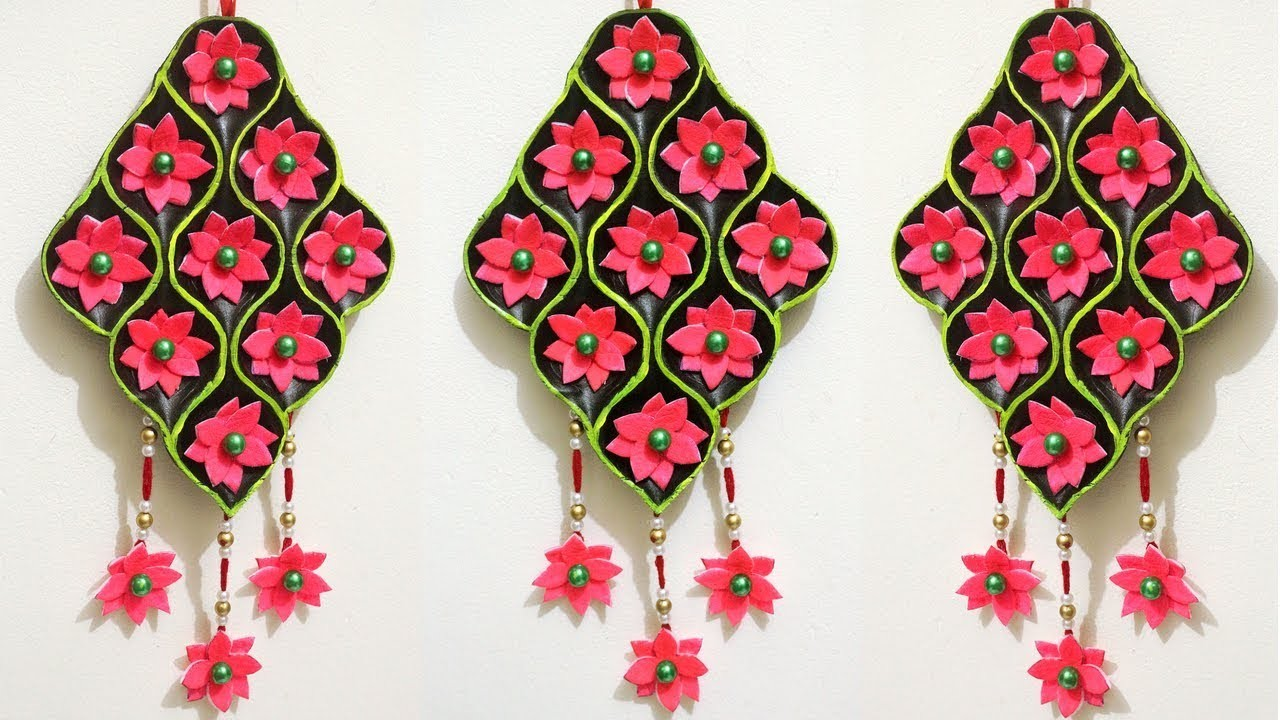 How To Make Wall Hangings At Home With Waste Material