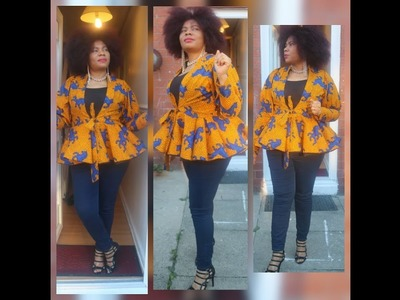 How To Sew Shoulder Princess Jacket with 720 Peplum