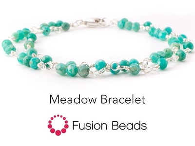 Watch how to make the Meadow Bracelet by Fusion Beads