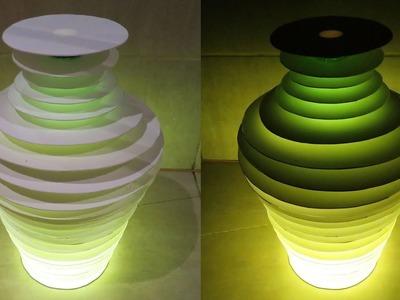 Bottle vase lamp - how to make floor.table lamp out of a plastic bottle - EzyCraft