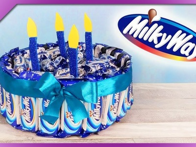 DIY How to make candy cake out of Milky Way bars (ENG Subtitles) - Speed up #490