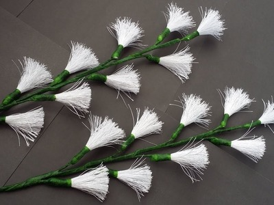 DIY: Silk Thread Crafts!!! How to Make Easy & Beautiful Flower Stick with Silk Thread!!!