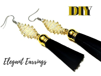 ???? ????????Earrings beads handmade.  How to make elegant earrings.  Party earrings TUTORIAL