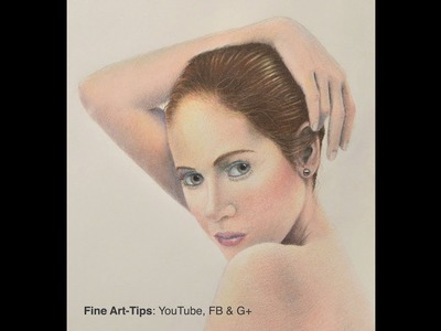 How to Draw Realistic Flesh With Color Pencils - Narrated