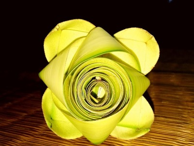 How to make a beautiful flower (coconut tree leaf)