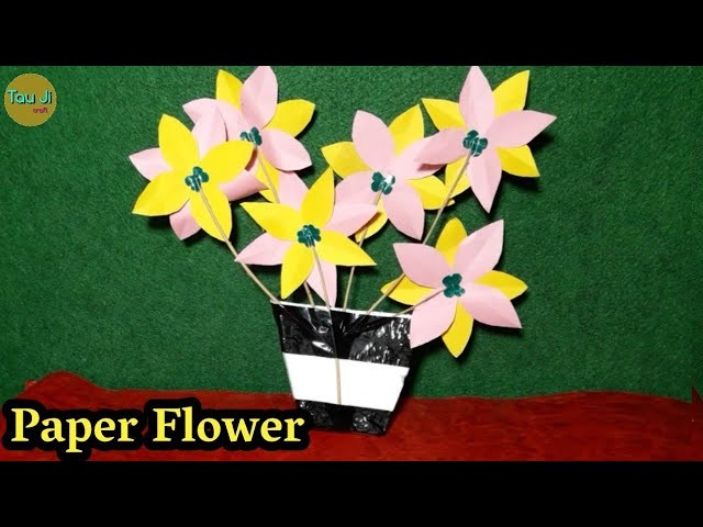 How To Make A Flower From Paper   Best Out Of Waste   DIY Arts And Crafts   Waste Material Reuse