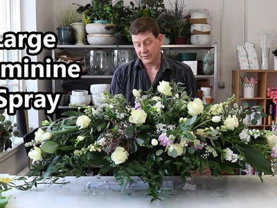 How To Make A Large Spring Double Ended Spray Using Feminine Flowers