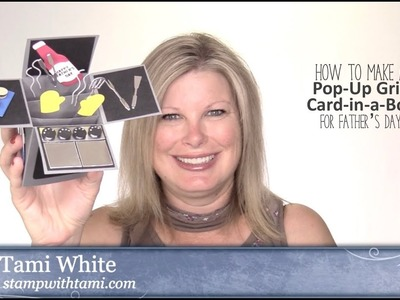 How to make a Pop-Up Grill Card-in-a-Box featuring Stampin Up