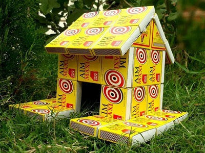 How to make house from matchbox | house making from waste matchbox | reuse old matchbox.