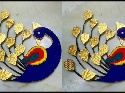 How to Make Peacock Wall Hanging | DIY Wall Decor | DIY Home Decor | DIY Wall Hanging| DiyArtiePie