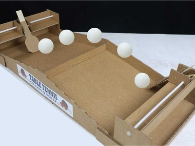 How to Make Table Tennis Ping Pong Games from Cardboard 2 player