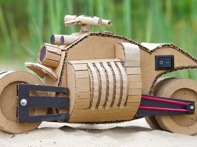 How to Make Toy Motorcycle Dodge from  Cardboard