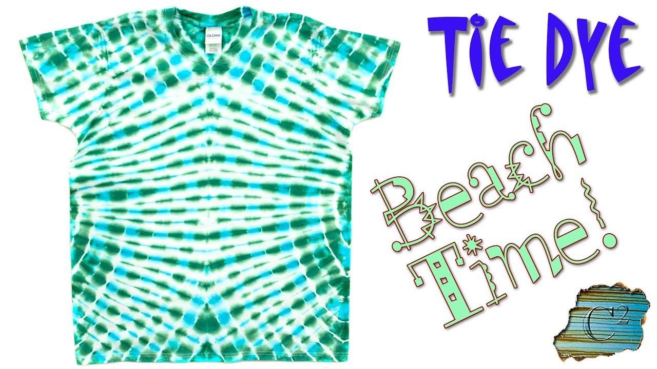 How to Tie Dye:  Beach Time  [Liquid Dye]