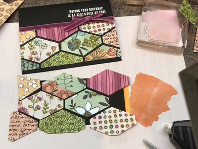 How to use your DSP Scraps and a punch to create a gorgeous card