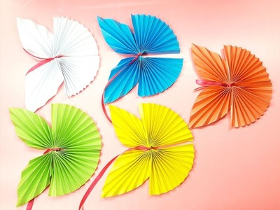 Origami butterfly :  How to make a paper butterfly- Easy origami butterflies for beginners making