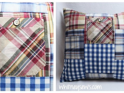 Patchwork Pillow Sham - Sewing How to   Whitney Sews