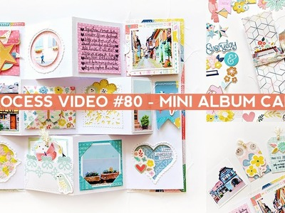 Process Video #80 - How to Assemble and Embellish a Mini Album Card