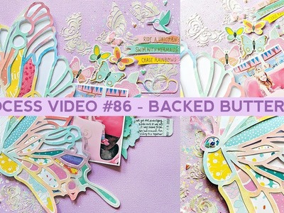 Process Video #86 - How to Back a Butterfly Cut File with Dear Lizzy Stay Colorful Papers