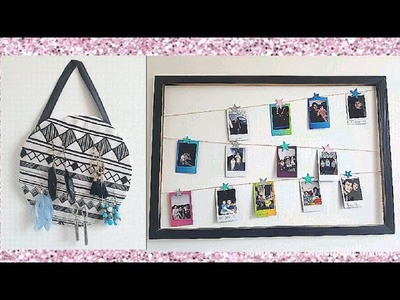 3 DIY Wall Art Ideas | DIY Jewellery Organiser | Glamours Room Decor Ideas | DIY Picture Frame 2018