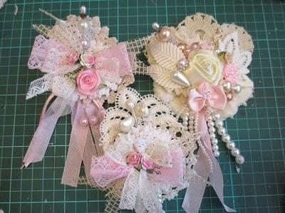3 x Stunning Shabby Chic Flowers Created from Scraps Tutorial - jennings644