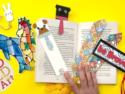 5 Creative Bookmark IDEAS - BEST OF Bookmark DIYs - DIY School Supplies