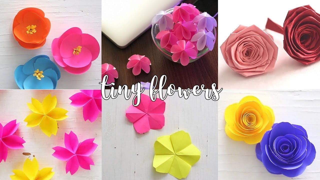 6 Tiny Paper Flowers | Paper Crafts | Compilation