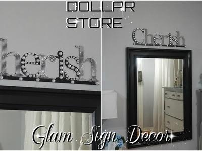 DIY DOLLAR STORE | QUICK & EASY WALL DECOR | GLAM DECOR IDEA | PETALISBLESS