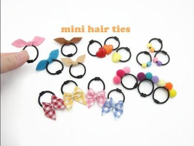 DIY Miniature Doll Mini Hair Ties Band - Very Easy!