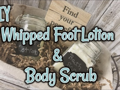 DIY Whipped Foot Lotion & Sugar and Spice Body Scrub