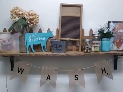 Dollar Tree DIY - Farmhouse & 4th of July Decor