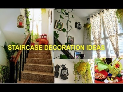 How to decorate Staircase.Staircase Decoration ideas with Plants