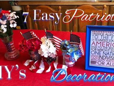 Patriotic DIY Decor | 2018