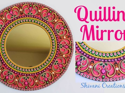 Quilling Mirror. DIY Quilling Wall Mirror