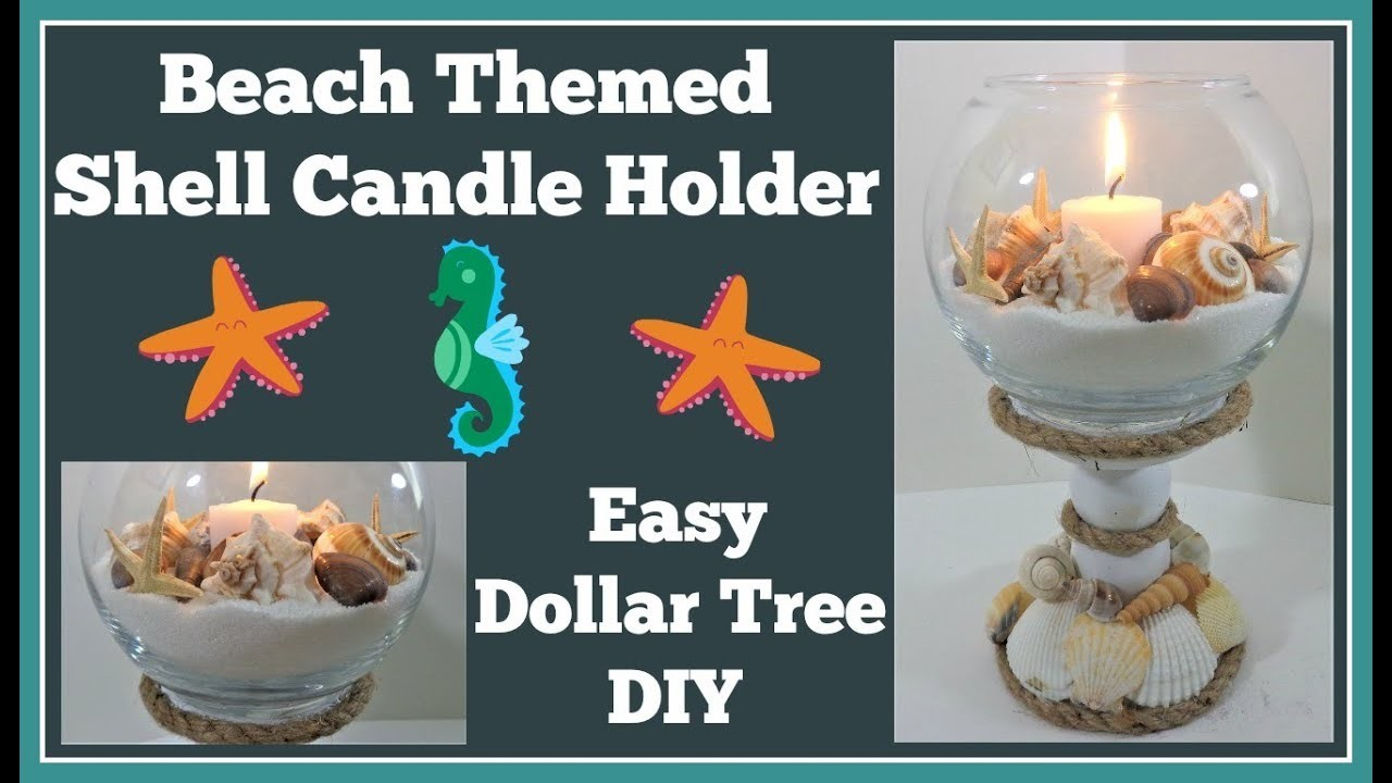Shell Candle Holder ???? Dollar Tree DIY