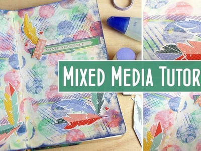 Using up Hoarded Pattern Paper: Mixed Media Art Journal Page Tutorial -  Creative Collage Ep6