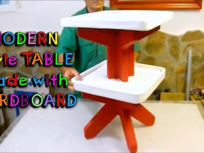 AWESOME CRAFTS that you can do with CARDBOARD - SUPER RESISTANT TABLE modern style