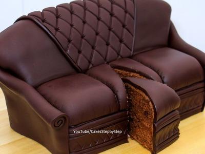 Chocolate Sofa Cake by Cakes StepbyStep