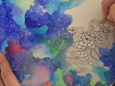 Create a Zentangle Galaxy on Canvas