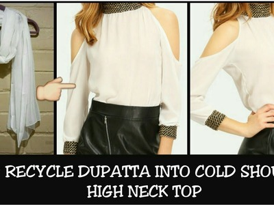 DIY: Convert Old Duppatta Into Cold Shoulder top in 5 Minutes