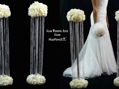 DIY Glam Aisle Wedding Ceremony Decorations | Glam Aisle Pillars | DIY Tutorial
