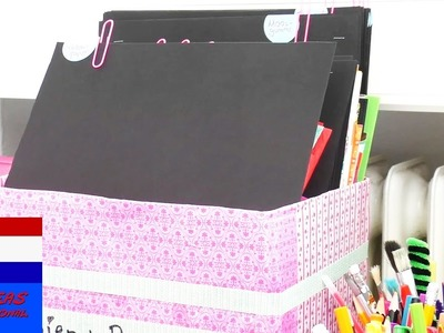 DIY organisatiesysteem   papier & karton sorteren   kamer opruimen & back to school-idee