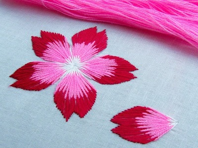 Hand Embroidery Flower Stitch by Nakshi Kantha World