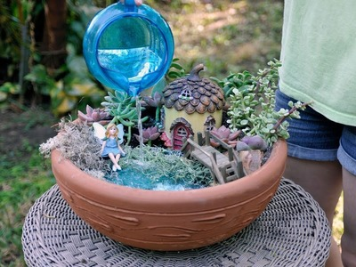 How to Build a Fairy Garden with a Working Pond