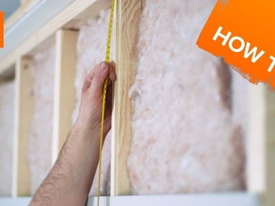 How to insulate & plasterboard a stud wall