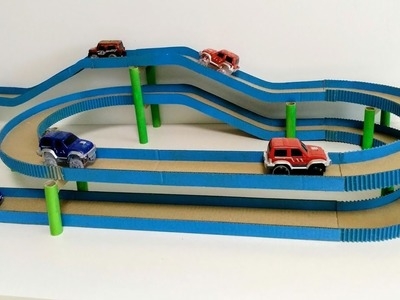 How to make a car track from cardboard